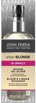 John Frieda Sheer Blonde High Impact Reviving Oil – 14x5x3cm   Olie Elixer voor Over behandeld Dof Haar   Herlevende en Vitaliserende Olie voor Geblondeerd of Gehighlight haar