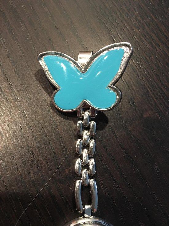 Petra's Sieradenwereld - Zusterhorloge vlinder blauw - Petra's Sieradenwereld