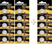 Knoopcellen Duracell CR2032 (10 stuks) en CR2025 (5 stuks)