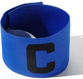 Aanvoerdersband Captainsband - C - Captain Aanvoerder Band - Blauw - Senior   voetbal - Hockey - Volleybal - Honkbal   Heble