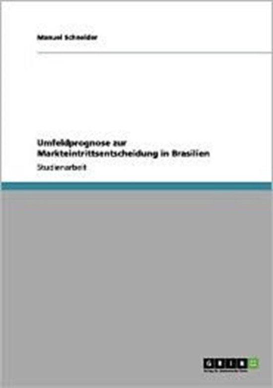 Umfeldprognose Zur Markteintrittsentscheidung in Brasilien