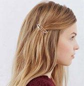 Haarschuifje Veiligheidsspeldje - Leuke styling haarclip - haarspeld - Haarschuif - Metaal Haar Accessoire Schuifje - Veiligheidsspeld - Paperclip - 2 stuks Goud en Zilver