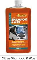 Star brite Citrus shampoo & wax   Camper & Caravan 500ml (concentraat)