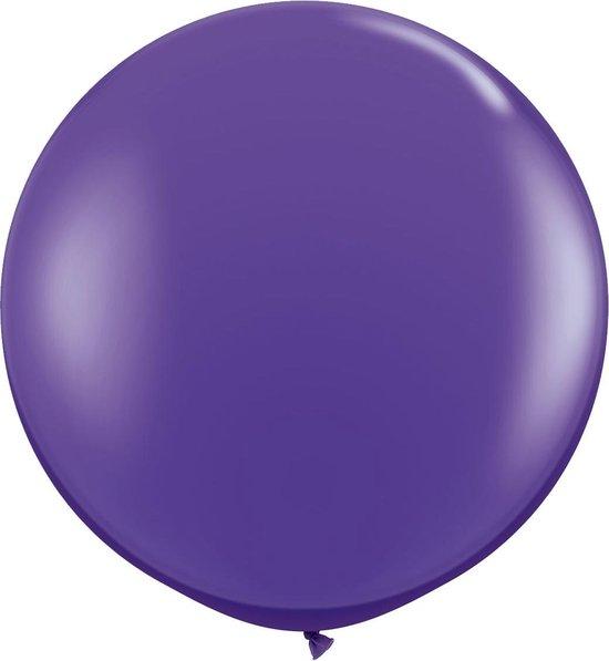 Paarse ballon XL - 90cm