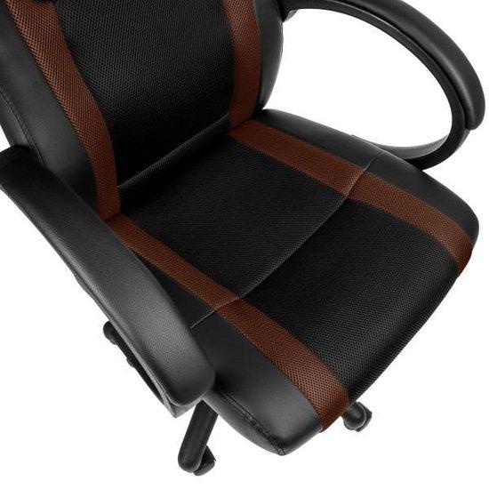 TecTake - bureaustoel Benjamin, zwart-bruin, comfortabel, racing style  - 402163 - Tectake