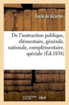 De l'instruction publique