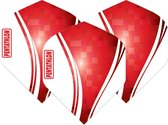 Pentathlon Wave - sterke flights - Rood  - Dragon darts - 1 Set (3 stuks) - darts flights