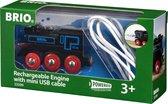 BRIO Oplaadbare locomotief met mini USB- kabel - 33599