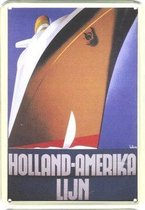 HAL reclame Holland Amerika Lijn reclamebord 10x15 cm