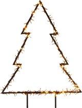 Verlichte kerstboom voor in de tuin 125 cm - 300 LED lampjes