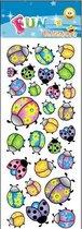 Stickervel lieveheersbeestjes