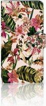 Samsung Galaxy A9 2018 Wallet Bookcase Hoesje Flowers