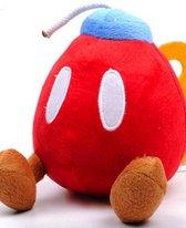 Super Mario Pluche Knuffel - Bob-omb Rood 18cm