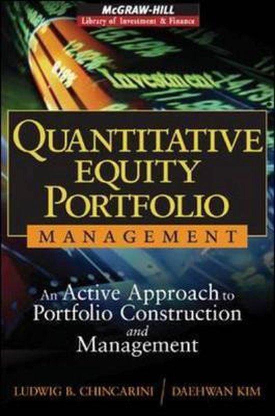 Boek cover Quantitative Equity Portfolio Management van Ludwig Chincarini (Hardcover)