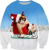 Grumpycat foute Kersttrui Maat: S