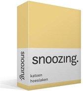 Snoozing - Katoen - Hoeslaken - Eenpersoons - 90x200 cm - Geel