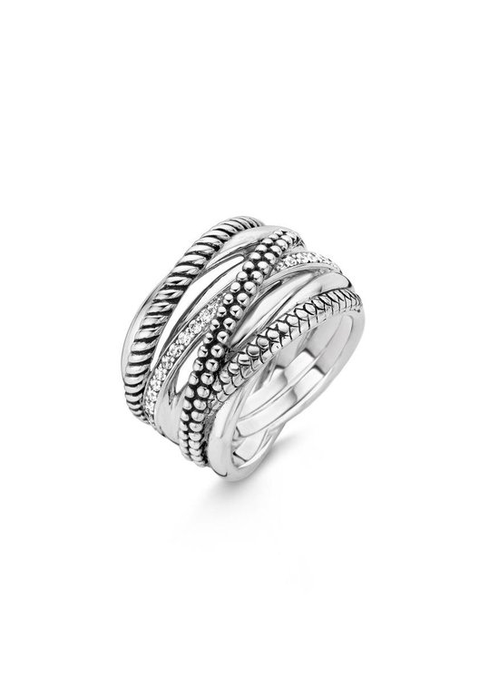 TI SENTO Milano Ring 12066ZI - Maat 52 (16,5 mm) - Gerhodineerd Sterling Zilver - TI SENTO - Milano