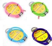 Stahlex Ø10mm / 65cm kabelslot schlechts 110g met 4-stellig cijferslot | Het eerste fietsslot voor uw kind | Groen
