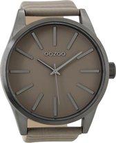 OOZOO Timepieces Taupe horloge  (50 mm) - Bruin
