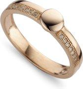 Silventi 943283638 58 Zilveren Ring - met Zirkonia - Rosékleurig