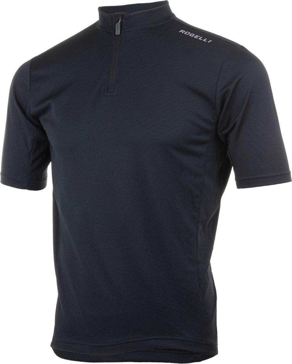 Rogelli Base Wielershirt - Korte Mouw - Zwart - Maat XL