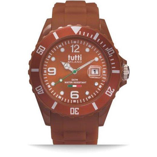 Tutti Milano TM002BR-Horloge – 42.5 mm – Bruin – Collectie Pigmento