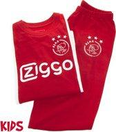 Ajax pyjama kinderen - rood/wit - maat 128