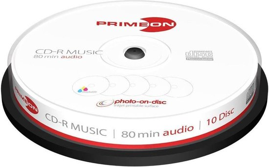 Primeon 2761111 CD-R 700MB 10stuk(s) lege cd
