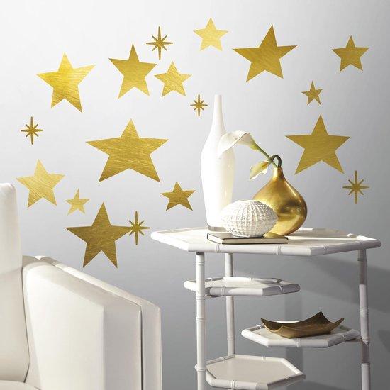 Muurstickers Gold Star