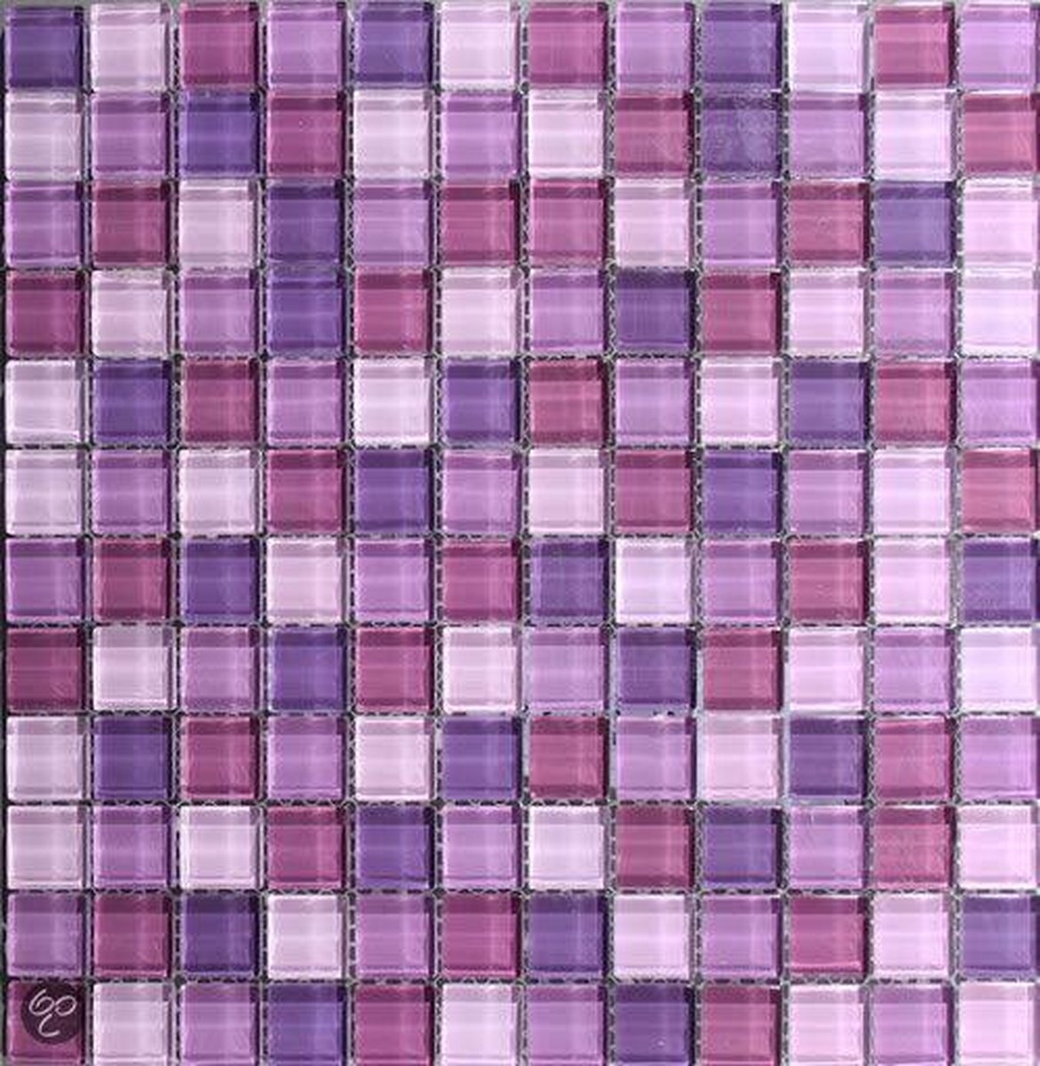 Venus Mozaiek Glas mix paars 2,3x2,3x0,8 cm -  Mix, Paars Prijs per 1 matje. - Merkloos