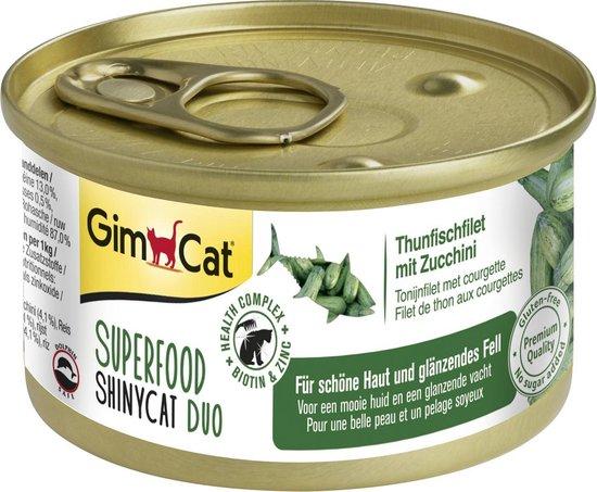 GimCat Superfood ShinyCat Duo - Kat - Volledig natvoer -  1x 70 gr