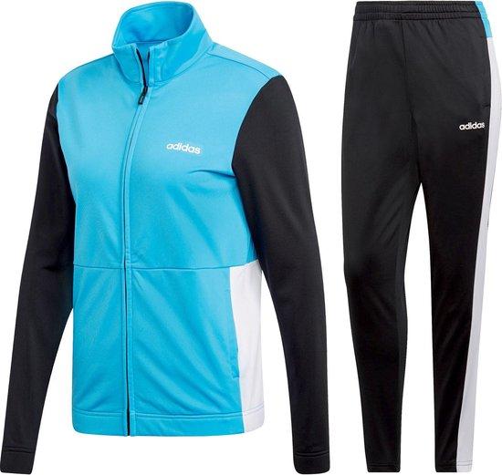 adidas WTS Plain Trainingspak Dames Trainingspak - Maat XS - Vrouwen -  blauw/zwart/wit