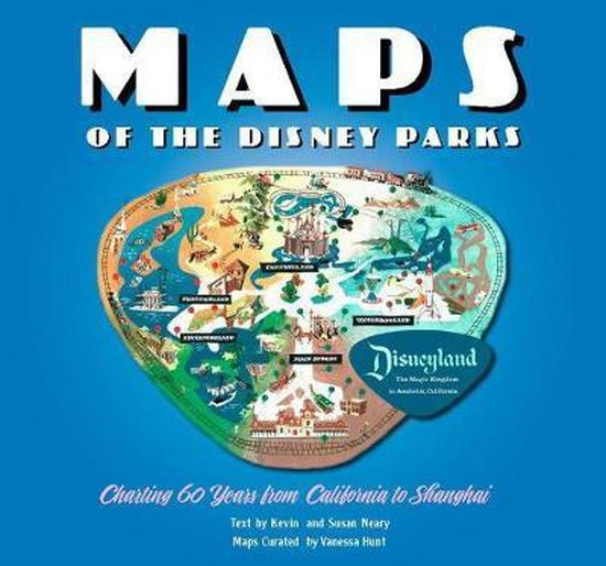 Boek cover Maps of the Disney Parks van Kevin Neary (Hardcover)