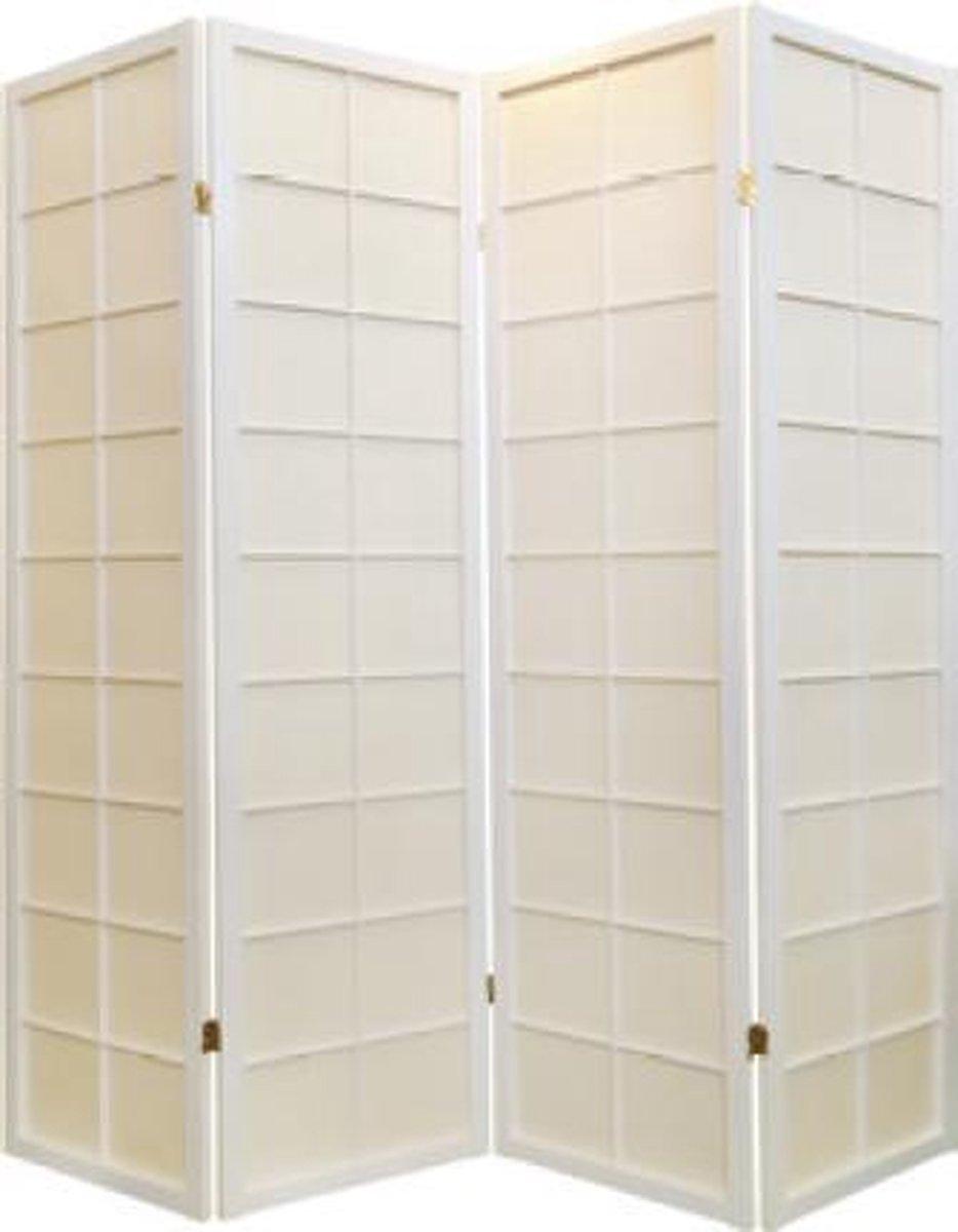Japanse Kamerscherm 4 Panelen Shoji Traditional Rijstpapier Wit Room Divider Scheidingswand Oosters - Orientique - Orientique