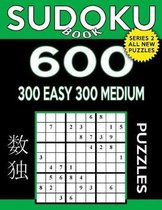Sudoku Book 600 Puzzles, 300 Easy and 300 Medium