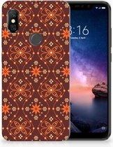 Xiaomi Redmi Note 6 Pro Uniek TPU Hoesje Batik Brown