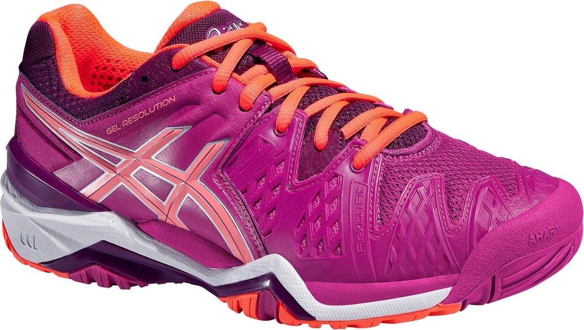 Asics Gel Resolution 6 Sportschoenen Maat 36 Vrouwen rozeoranje