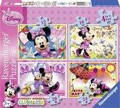 Ravensburger Disney Minnie Mouse - Vier puzzels -12+16+20+24 stukjes - kinderpuzzel