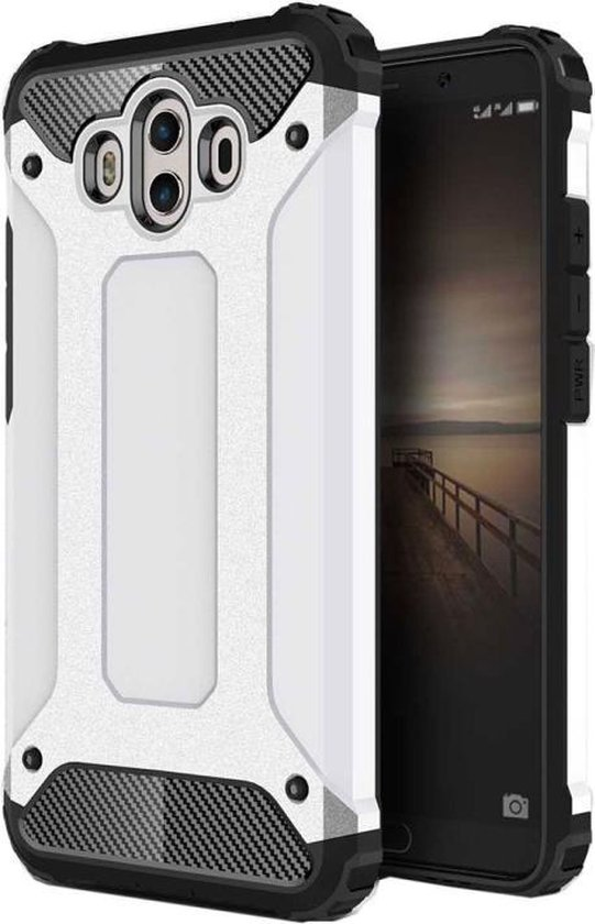 Let op type!! For Huawei  Mate 10 Magic Armor TPU + PC Combination Case(White)