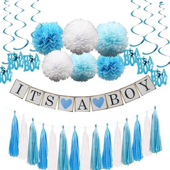 Luxe babyshower versiering set - it's a boy (jongen)