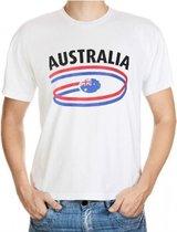 Australie fan t-shirt wit heren 2xl