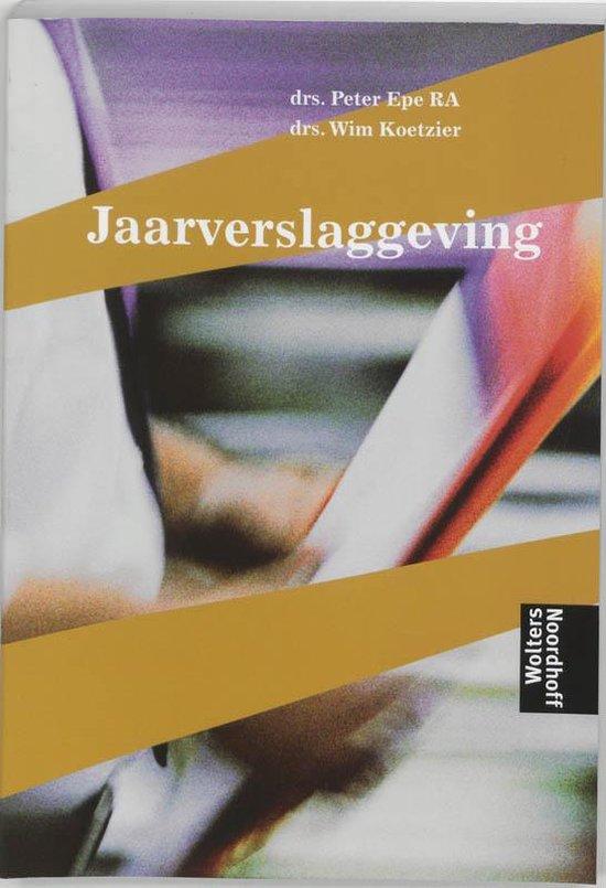 Boek cover Jaarverslaggeving van P. Epe (Paperback)