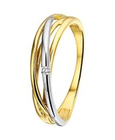 The Jewelry Collection Ring Diamant 0.02ct H Si - Bicolor Goud