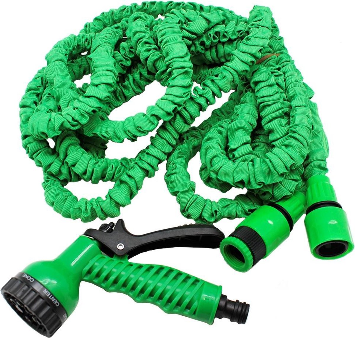 Benson - Tuinslang - Fexibel - 10 meter - Tuinslang met koppeling - Spuitpistool - Groen