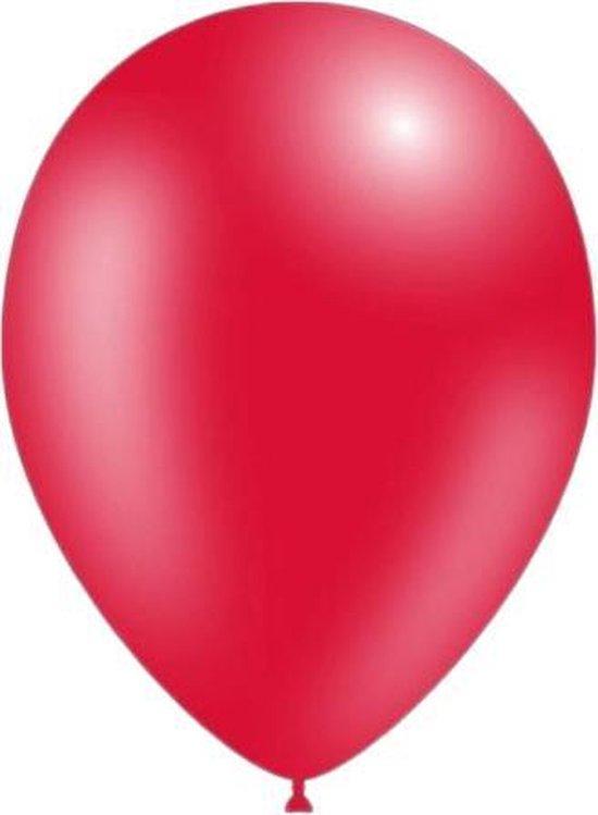 50 stuks - Feestballonnen metallic rood 26 cm professionele kwaliteit