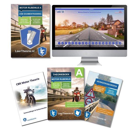 MotorTheorieboek 2020 - Rijbewijs A - met Motor theorie samenvatting, verkeersbordenboekje en een uitgebreide oefen Motor Theorie USB - Leertheorie |