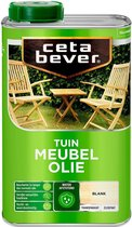 Cetabever Tuin Meubel Houtolie - Zijdemat - Blank - 1L