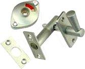Nemef WC insteekgrendel  2705/4 - Doornmaat 50 mm - F1 geëloxeerd - In zichtverpakking