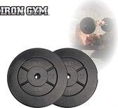Iron Gym Halterschijven 2 x 10 kg Ø 25 mm - Haltergewichten - Plate Set - Barbell gewichten