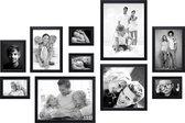 Deknudt Frames Fotolijsten - Kunststof - Zwart - 10 Stuks